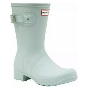 NIB HUNTER Original Tour Short Rain Boot Aqua Foam